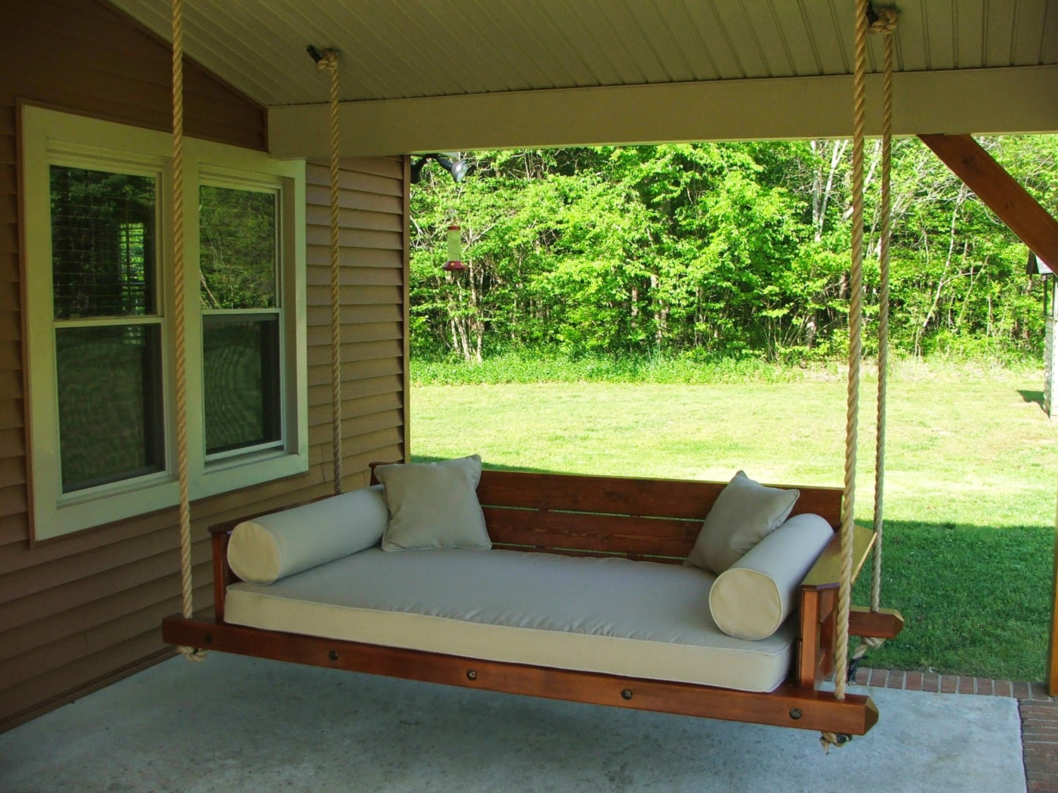 23 fantastic porch swings plans for Easy porch swing