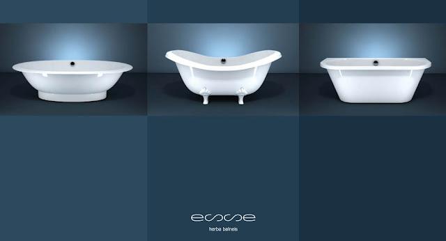 Сантехника Esse из литого мрамора: ванны, душевые поддоны и умывальники