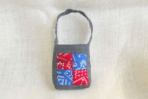 Mini Patchwork Gift Bag in Denim - $5.00