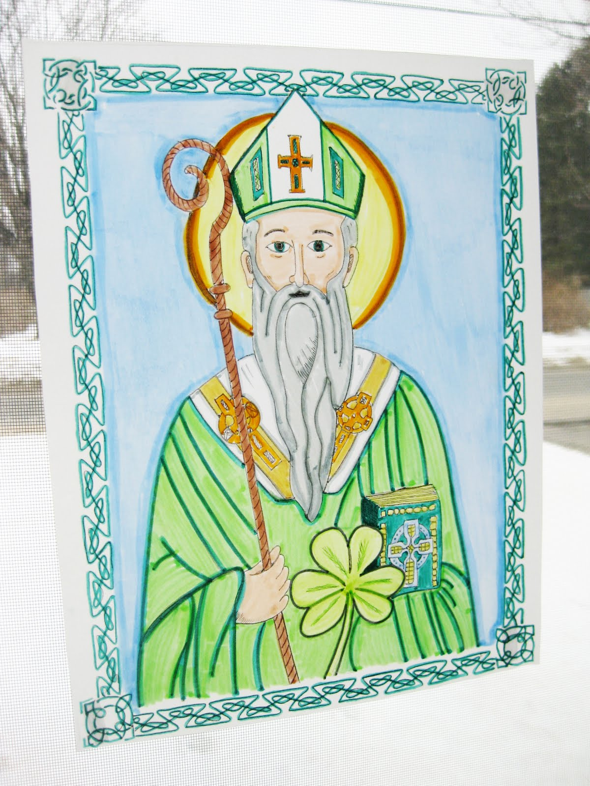 graphic relating to Printable Window identify wee small wonders: St. Patrick Printable Window Craft