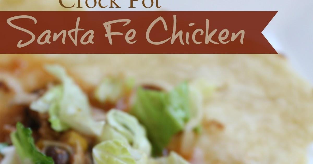 Cook and Craft Me Crazy: Crock Pot Santa Fe Chicken