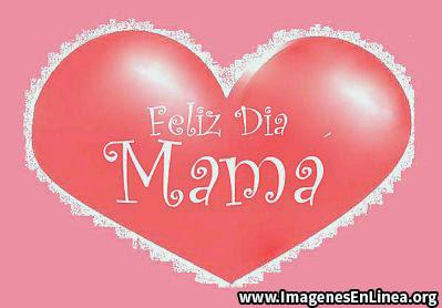Corazón para felicitar a mamá