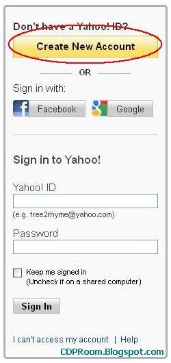 Cara Daftar Email Yahoo Baru