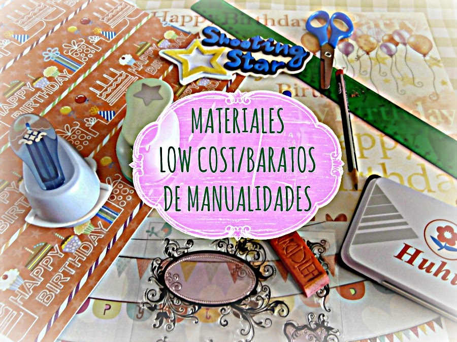 materiales lowcost manualidades