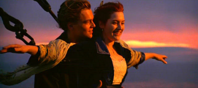 DiCaprio and Winslet in Titanic