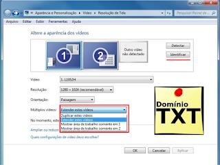 DominioTXT - Configurações de tela Windows 7