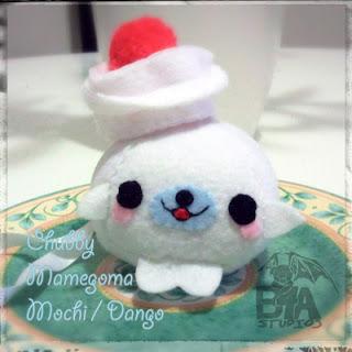Chubby Mamegoma まめゴマ Mochi 餅 Dango 団子 Plush Bubs B4Astudios