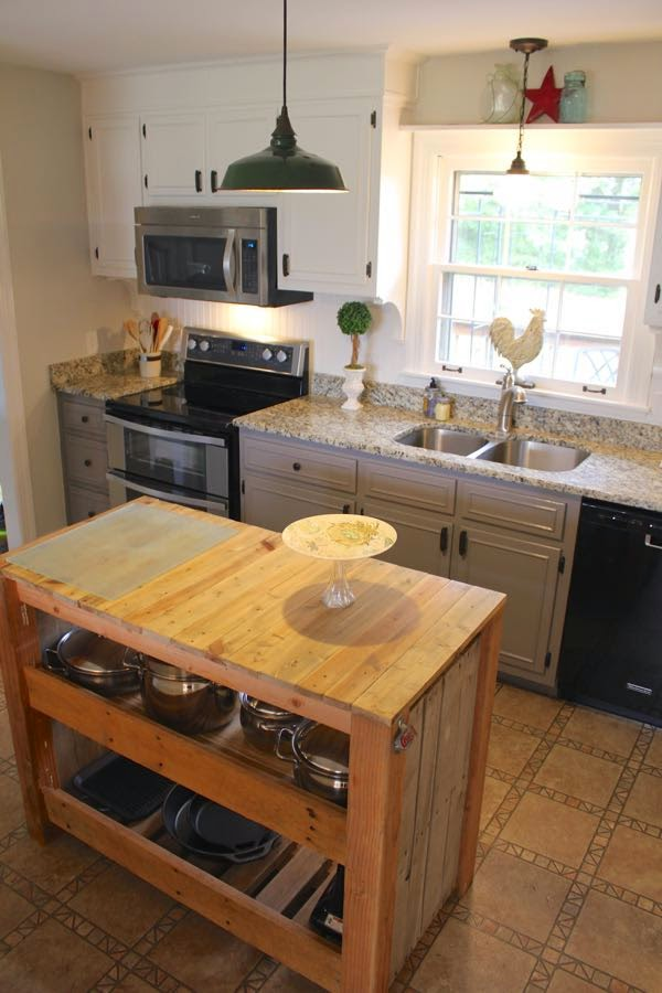 Amazing Farmhouse Kitchen remodel for just over $5000 - including new countertops and appliances! See the full transformation at NotingGrace.blogspot.com