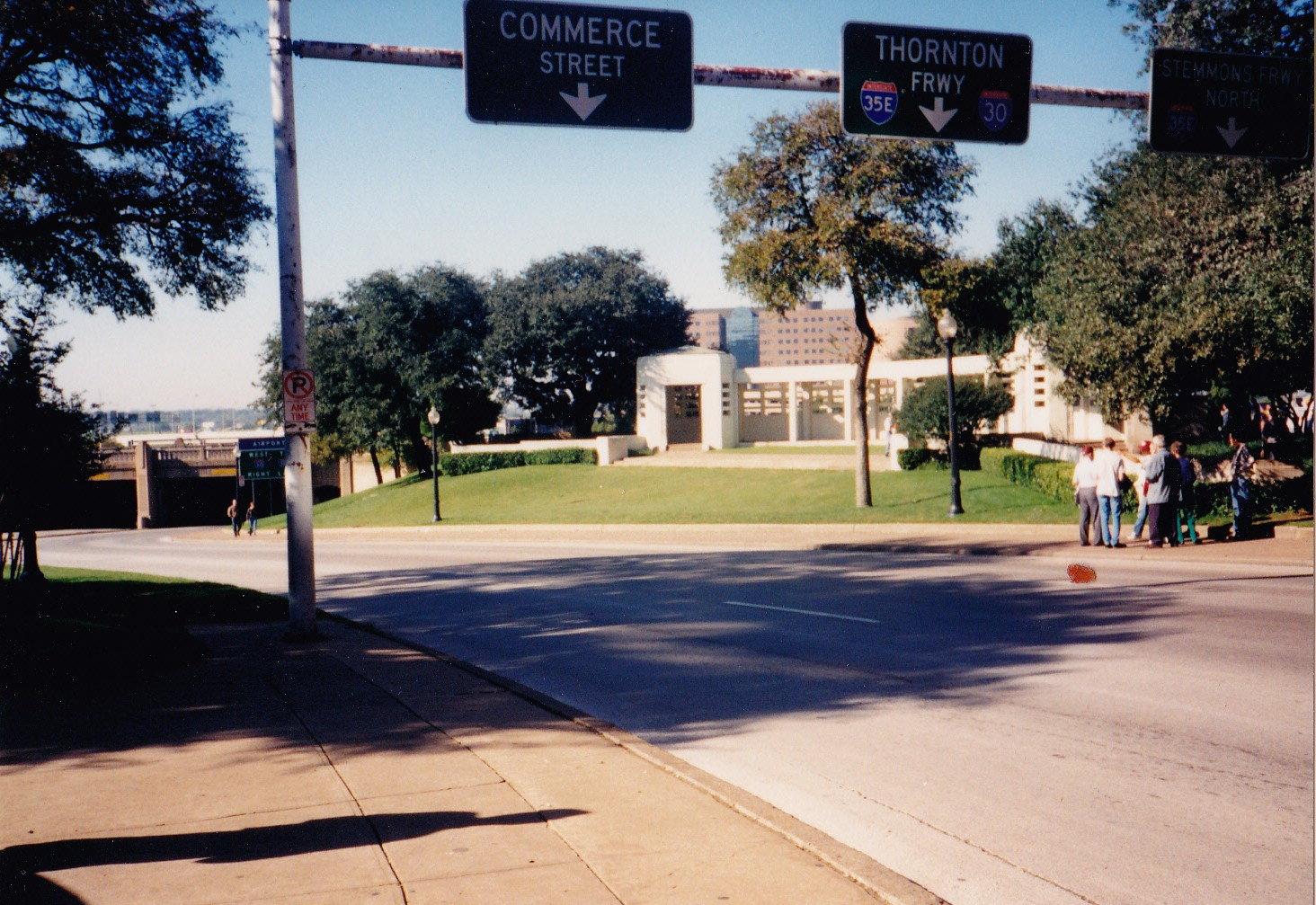 Tommy Mondello in Dealey Plaza Dallas Texas Nov 1994