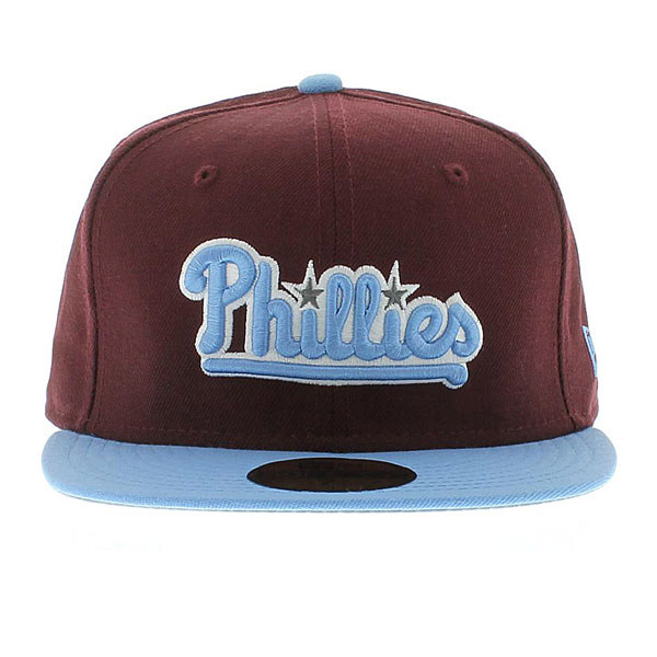 Boné New Era Phillies MLB Marrom, Azul Fitted