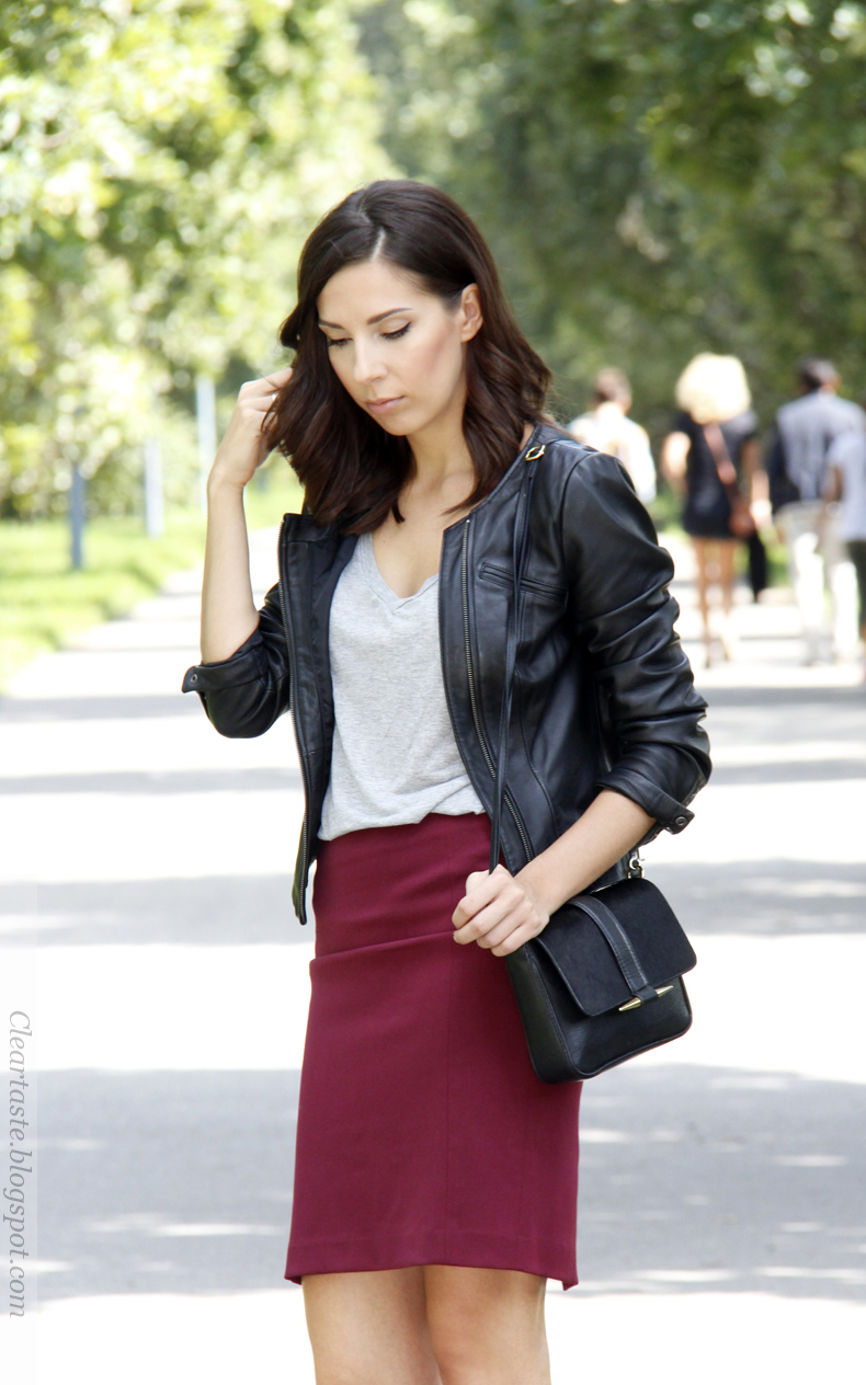 leather jacket vero moda