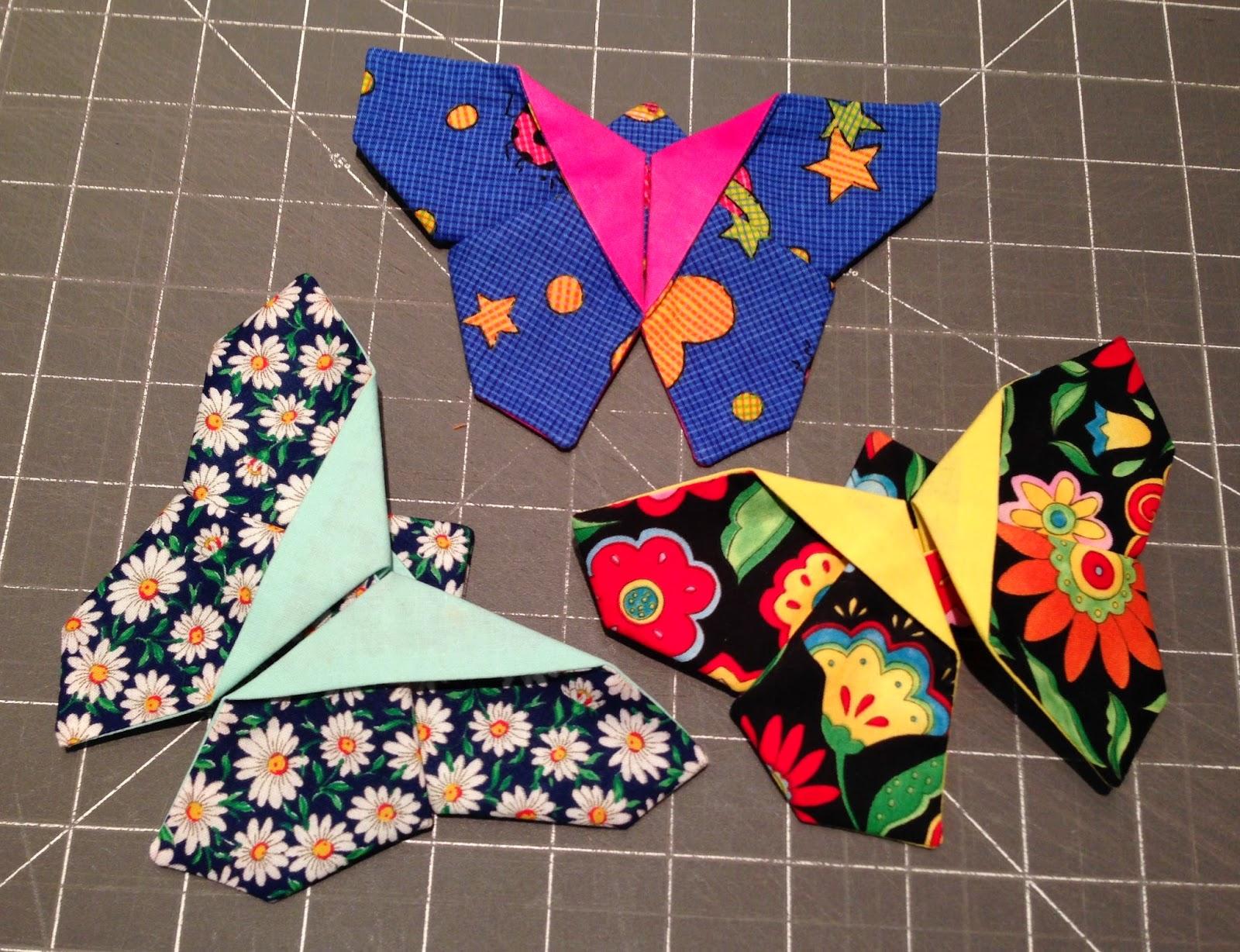Trampantojos de costura origami patchwork mariposas - Como hacer pachwork ...