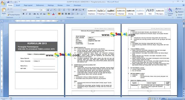 Download Contoh RPP Semester 2 Kelas 1, Kelas 2, Kelas 3, Kelas 4, Kelas 5, Kelas 6