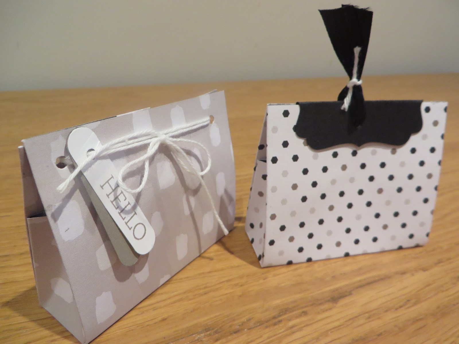 Mini Gift Bags Tutorial Using Go Wild 6 X Dsp Stacks From Stampin Up Perfect For Wedding Favours