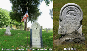 Comparing Amateur Attempts to Repair Gravestones
