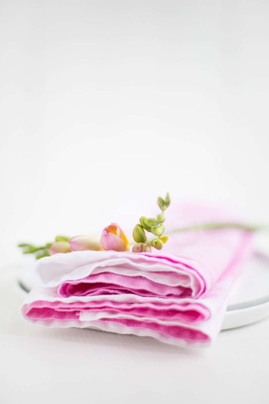DIY Dip Dye Servietten