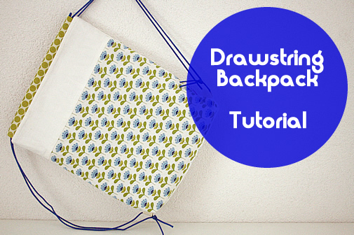Free sewing pattern: drawstring backpack for kids | Happy in Red