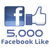 Mais de 5 mil seguidores no Facebook