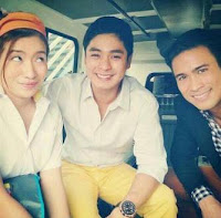Coco Martin visits Kahit Konting Pagtingin set (first shooting day)