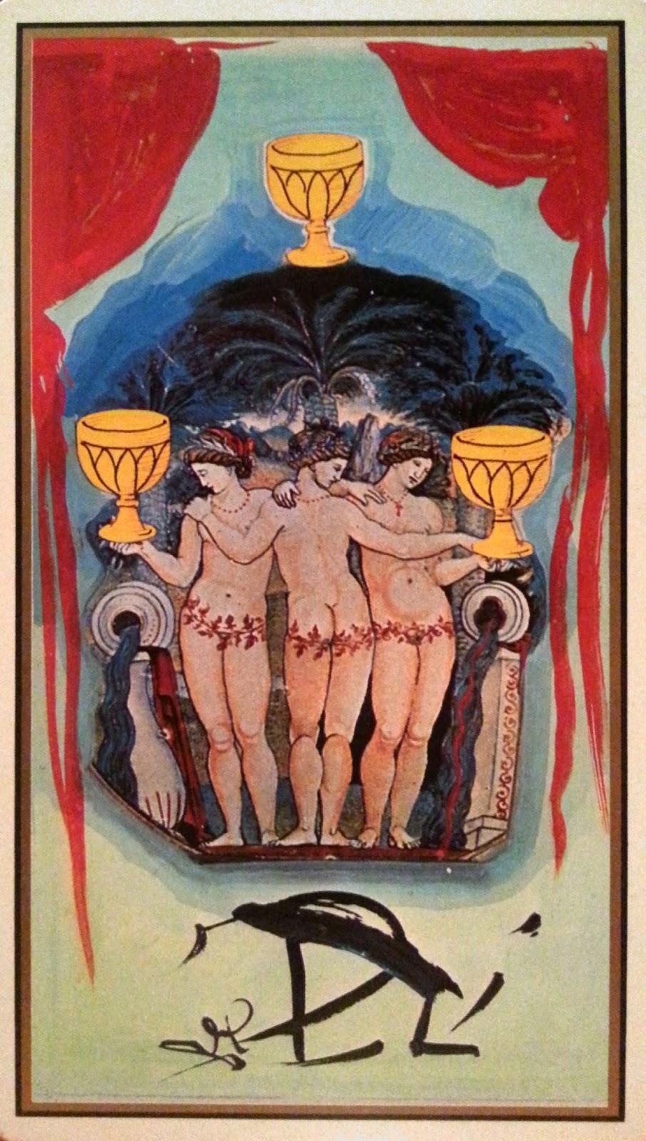 Tres de Copas- Tarot Dalí