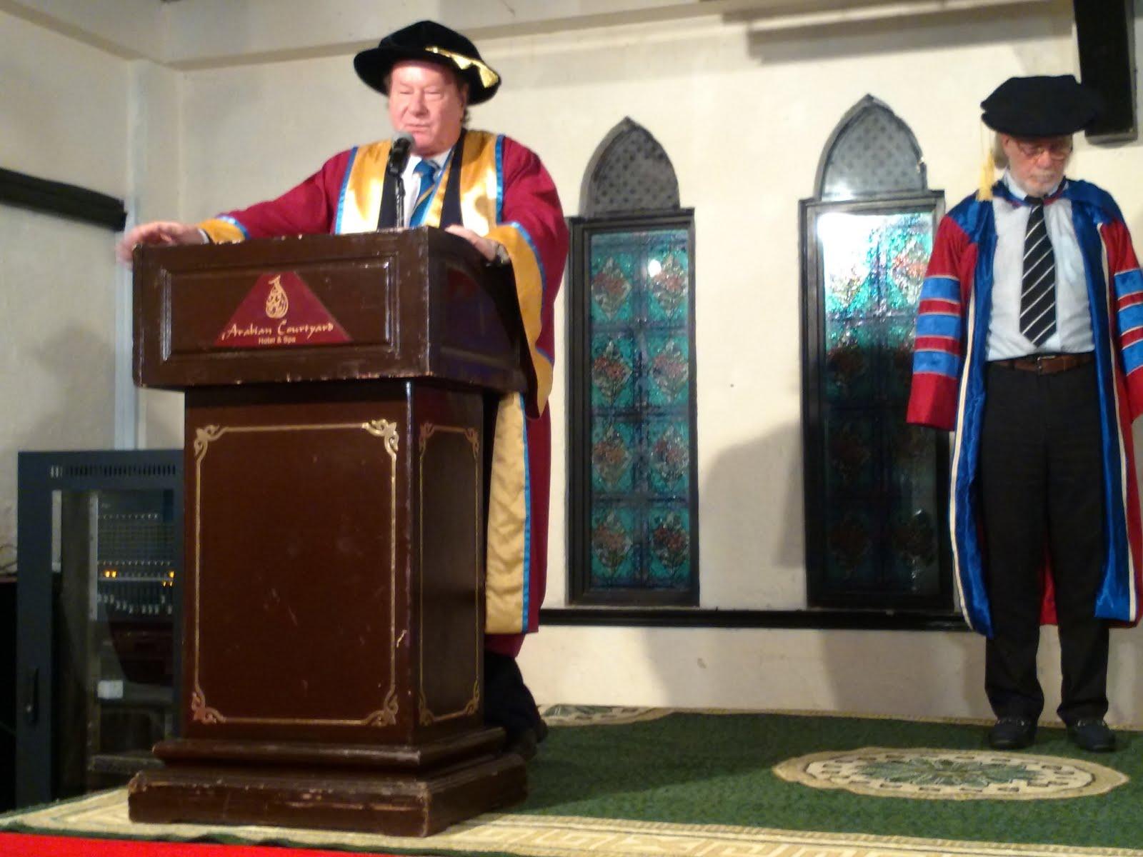 St Clements University 校長DAVID在二十周年慶典 致詞