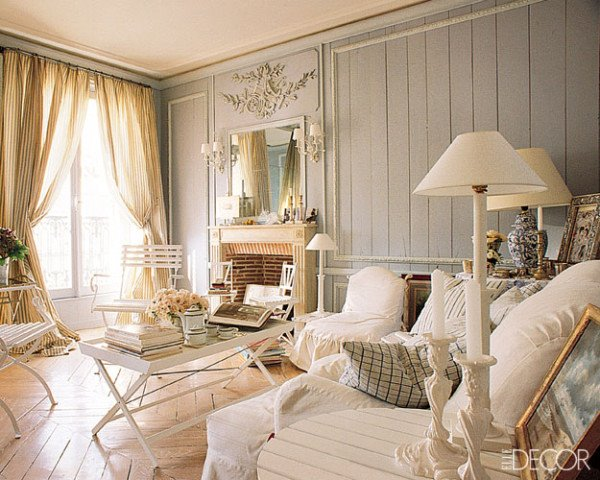 Salones shabby chic ideas para decorar dise ar y - Decoracion shabby ...