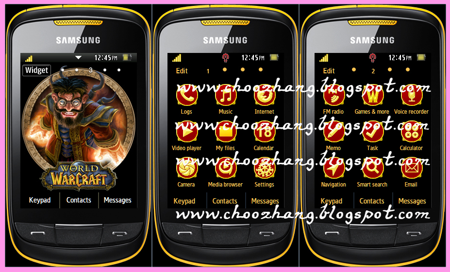 ChooZhang - Corby Cat: Samsung Corby 2 or S3850 - World of Warcraft