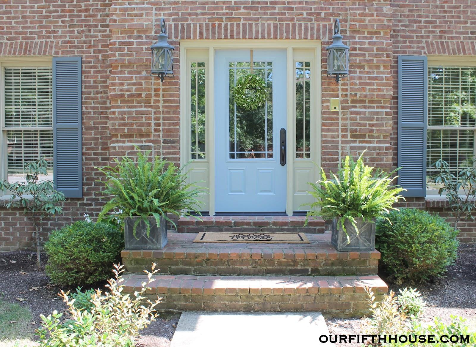 Light blue front door for Front doors that let in light