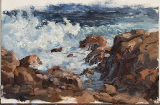 Gap Albany, plein air seascape oil painting by andy dolphin