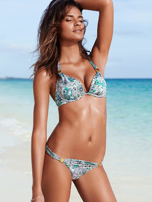 Gracie Carvalho hot in sexy bikini beach model for Victoria's Secret Swimwear photoshoot