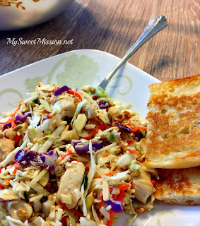 Oriental Chicken Salad by MySweetMission.net
