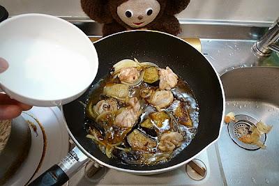 鶏ナスあんかけ蕎麦の作り方(3)