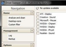 برنامج Driver Sweeper لحذف بقايا التعريفات