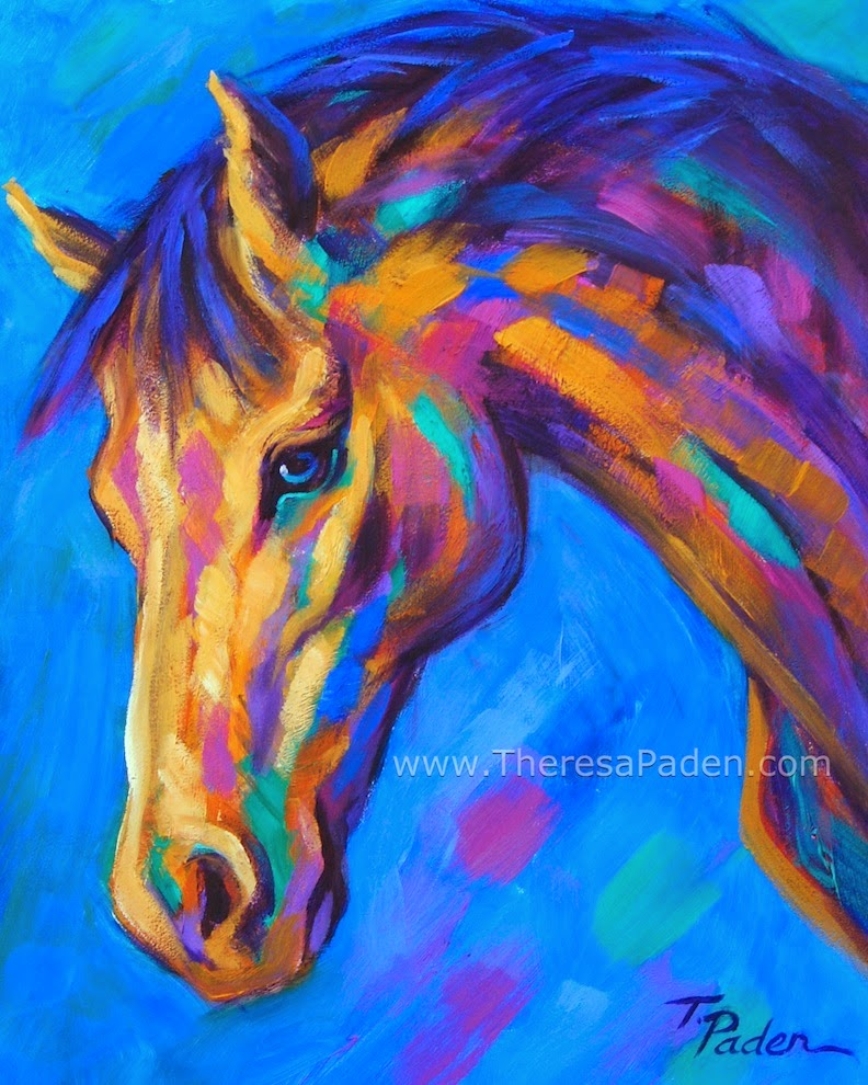 Contemporary Affordable Horse Art In Bright Colors By Theresa Paden