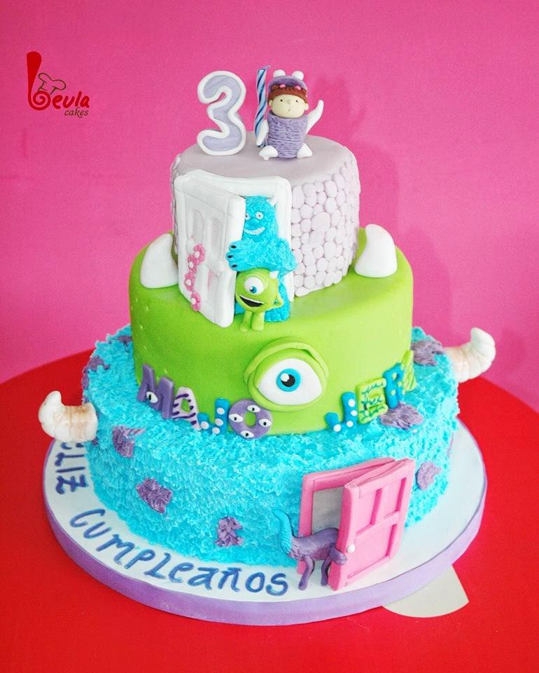 beula cakes: Tortas monster inc