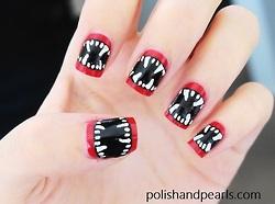 como fazer unhas Halloween Nail Art