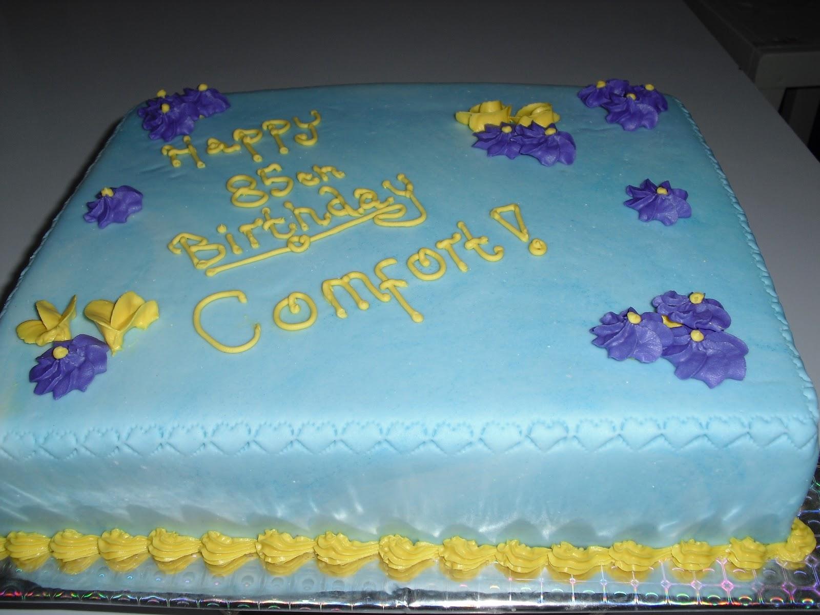 Cakes By Elsie Aikens 85th Birthday Cake