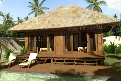 Manufacturer of high quality prefabricated wooden houses for Prefab tropical homes
