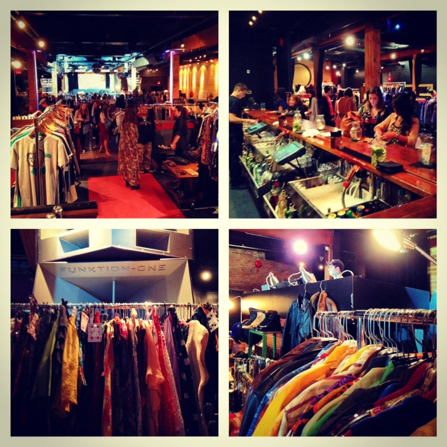Gypsy Vintage Market at Fortune Sound Club Vancouver different vendors and clothing racks