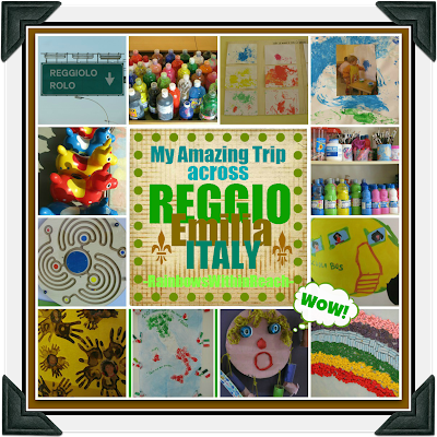 photo of: Collage of Reggio Emilia Photographs taken during field trip visiting Italian Early Childhood Centers