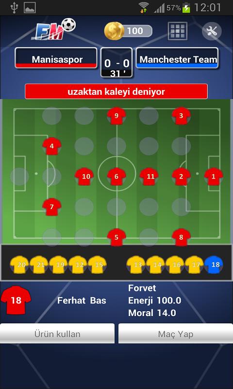 Futbol Menajerlik Oyunu 2014 Android Apk resimi 1