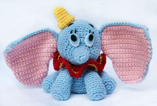 Elefante Dumbo amigurumi