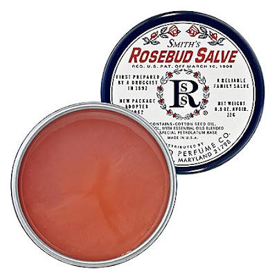 Smith's Rosebud Salve, Rosebud Perfume Co, lip balm, salve