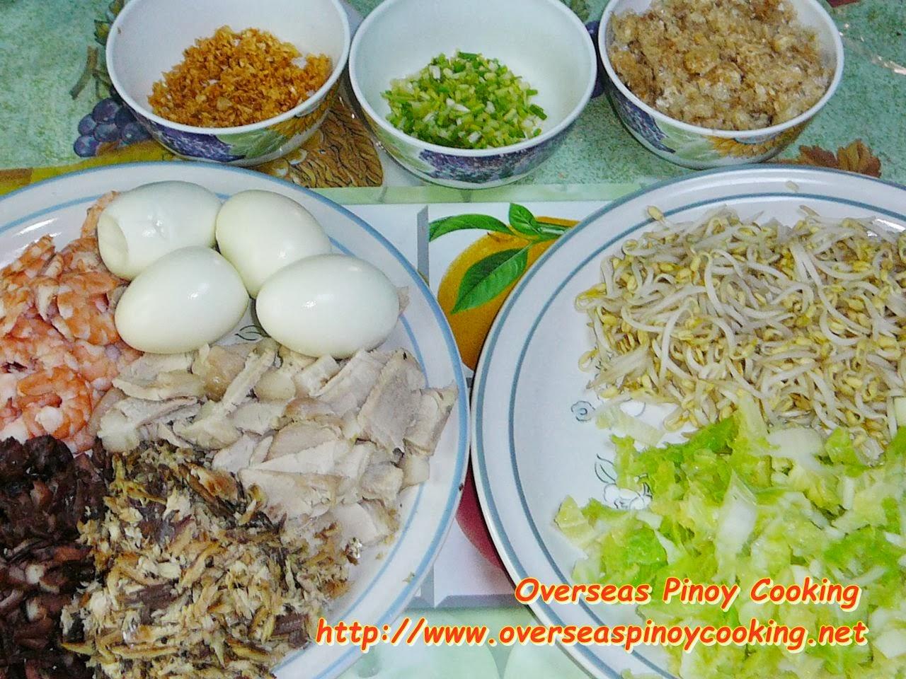 how to cook pancit malabon palabok
