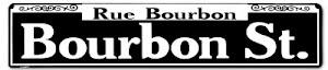 Cartello Stradale Bourbon Street