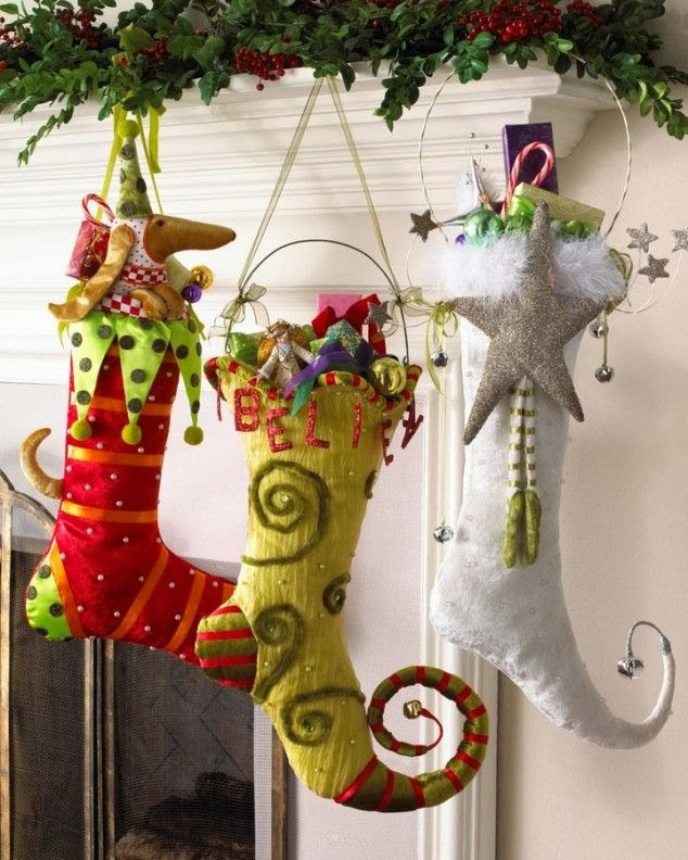 http://www.thebudgetdecorator.com/stockings-stockings-everywhere/