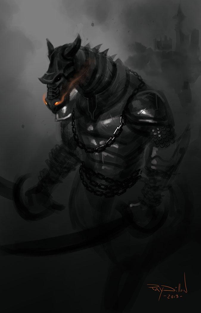 RAY DILLON : SKETCHES!: Dragon Centaur Warrior Concept Art