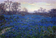 191920 Bluebonnets at Twilight, near San Antonio oil on canvas 50.8 x 76.2 .