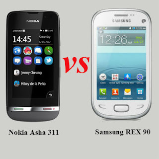 Samsung REX 90 Vs Nokia Asha 311