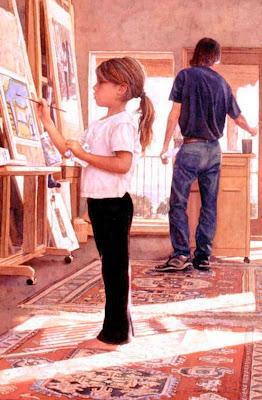 niña-pintora